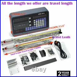 10 48 TTL Linear Glass Scale 2Axis Digital Readout Display DRO Kit CNC Milling