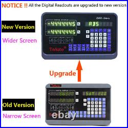 12 36 Linear Scale Digital Readout 2Axis DRO Display Bridgeport 9X42 Table, US
