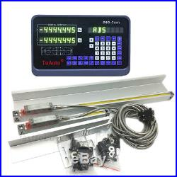 12 & 40 Linear Glass Scale 5µm Digital Readout 2Axis DRO Display Lathe Ruler