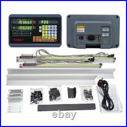200&300mm Digital Readout 2Axis DRO Display +2pc Linear Glass Encoder Sensor Kit