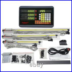 2Axis/3Axis Digital Readout +Linear Scale TTL Sensor Kit for Milling Lathe Grind