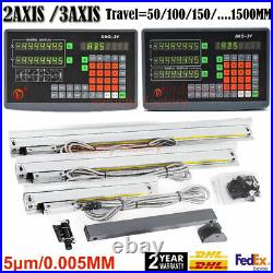 2Axis 3Axis Digital Readout TTL 5m Linear Glass Scale DRO Display CNC Milling