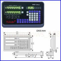 2Axis Digital Readout +10'' & 40'' set Dro 5um TTL Linear Glass Scale Lathe Mill