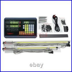 2Axis Digital Readout 400&850mm Linear Scale Encoder 5µm for CNC Milling Machine