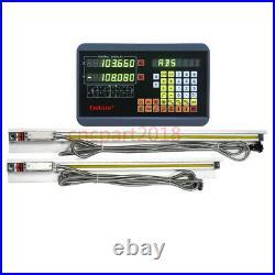 2Axis Digital Readout DRO Display 350&700MM TTL Linear Scale 5µm Mill Kit