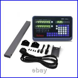 2Axis Digital Readout Display DRO Kit CNC Milling Linear Glass Scale 250&1200MM