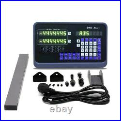 2/3Axis DRO Digital Readout Display+TTL Linear Scale 5m CNC Mill Lathe Machine