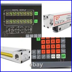 2/3Axis Digital Readout DRO Display Linear Scale Encoder for Bridgeport Mill 1m