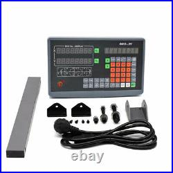 2/3Axis LCD DRO Digital Readout TTL Linear Glass Scale 5m Mill Lathe 4''-40'