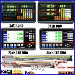 2/3Axis Linear Scale DRO Display Digital Readout 5µm TTL Sensor CNC Milling