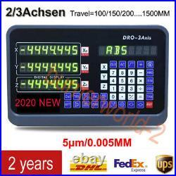 2/3 Achsen Digitalanzeige DRO TTL Linear Scale Encoder zum Fräs Drehmaschinen DE