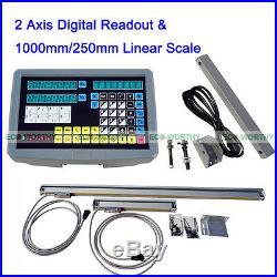 2 Axis CNC LCD Digital Readout Linear Scale 9x42 DRO Kits Mill Lathe BRIDGEPORT