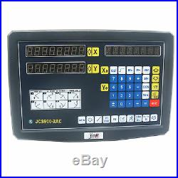 2 Axis DRO Digital Readout Display Meter for Milling Lathe Machine Linear Scale