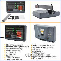 2 Axis DRO Digital Readout + TTL Linear Glass Scale 11''&24'' Encoder Mill Lathe