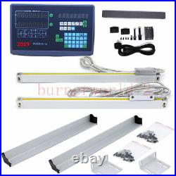 2 Axis Digital Readout DRO with Precision Linear Scale 5um Linear Encoder CNC