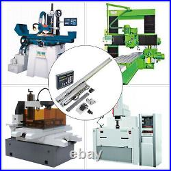 2 Axis Digital Readout Display 250&1000mm 5 µm DRO Linear Scale For CNC Mill