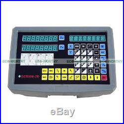 2 Axis Digital Readout+TTL Linear Scale 9x42 DRO Kit for Grinding Bridgeport
