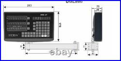 2 Axis Digital Readout with 1000&350mm Linear Scale Encoder DRO Ruler for Lathe