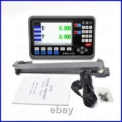 2 Axis LCD DRO Digital Readout Display+300&1000mm Linear Scale Bridgeport Mill