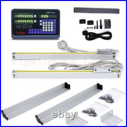 2 Axis Optical Ruler 400&850mm Encoder Linear Scale Digital Readout Display DRO