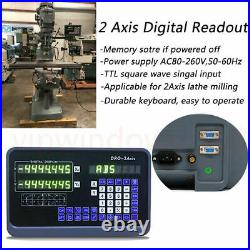 2axis DRO kit Linear Scale Encoder 5um DRO LCD Digital Readout For lathe milling
