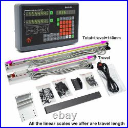 300&1000 TTL Linear Scale+2 Axis DRO Digital Readout Kit for Lathe Milling EDM