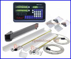 350&1500mm Linear Scale 2Axis Digital Readout Display CNC Milling Lathe Encoder