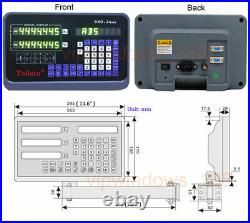 3Axis/2Axis Digital Readout DRO Display Linear Scale Encoder for Mill Lathe CNC