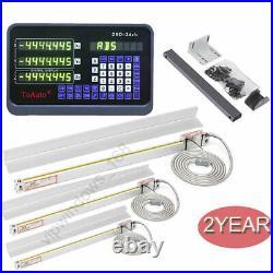 3Axis Digital Readout DRO TTL Linear Glass Scale 250&450&1500MM Bridgeport Mill