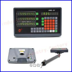 3Axis Digital Readout Dro Display TTL Linear Scale 450&500&1000MM Milling Lathe