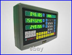 3 Axis DRO Digital Readout for Milling Lathe Machine +3pcs Linear Glass Scales