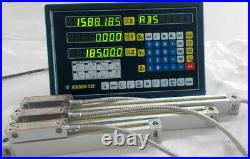3 Axis Digital Display Readout Dro And 3 Linear Scale For MILL Lathe Machine
