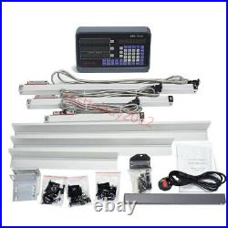 3 Axis Digital Readout DRO Display 5µm Linear Scale 150+250+550mm Kit Lathe Mill