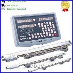 3 Axis Digital Readout Dro+3pcs 5um Linear Scales for Lathe Milling dl45