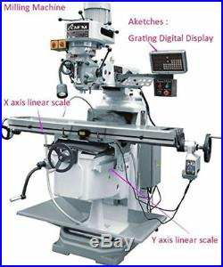 3 Axis Digital Readout Dro Display Kit For Mill Milling Machine+3pc Linear Scale