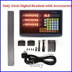 3 Axis Digital Readout with Linear Scale 400&500&700mm 5micron Linear Encoder