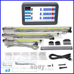 3 Axis Dro Digital Readout LCD Touch Screen Encoder+3PCS Linear Glass Scale Kit