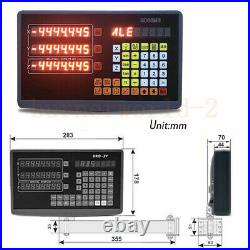 3 Axis Dro Digital Readout System Display 5µm Linear Optical Ruler 150&200&550mm