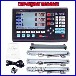 3 Axis LCD Digital Readout DRO With 3 Pieces 0-1000mm Glass Linear Scale Encoder