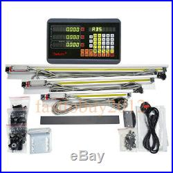 Bridgeport Mill 3Axis Digital Readout DRO Display&3pc TTL Linear Glass Scale Kit