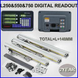 Bridgeport Vertical Mill 3Axis Digital Readout TTL Linear Scale 250&550&750MM