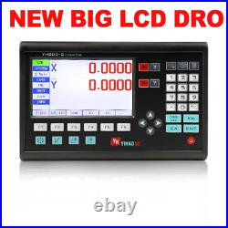 Complete 2 Axis Big LCD Digital Readout Dro Set Kit and 2 PCS 5U Linear Glass S