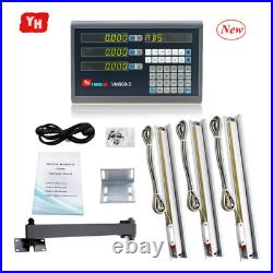 Complete 3 Axis Digital Readout Set DRO Kit Complete with DRO 3 PCS 5U Linear Sc