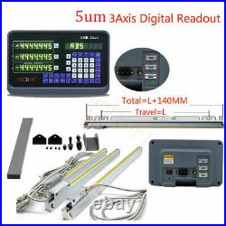 DRO 3-Axis Digital Readout TTL Linear Glass Scale 16 18 28Encoder Kit Milling