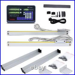 DRO Digital Readout+Linear Glass Scale Kit Sensor Encoder for CNC Milling Lathe