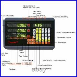 DRO Display 2/3Axis Digital Readout 5µm Linear Scale Bridgeport Mill Lathe UK
