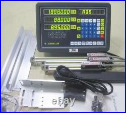 Digital Display 3 Axis Readout Dro 3 Linear Scale For Mill Lathe Machine New cc