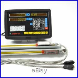 Digital Display Readout 2 Axis Dro Kit For Mill Lathe Machine With Linear Sca tt