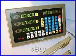 Digital ReadOut DRO kit for 9x42 Bridgeport Mill w Glass scales 2 axis NEW