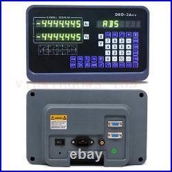 Digital Readout 2Axis Linear Scale DRO Display Sensor Bridgeport Mill Lathe Kit